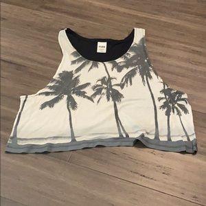 PINK Victoria's Secret palm cropped tank top